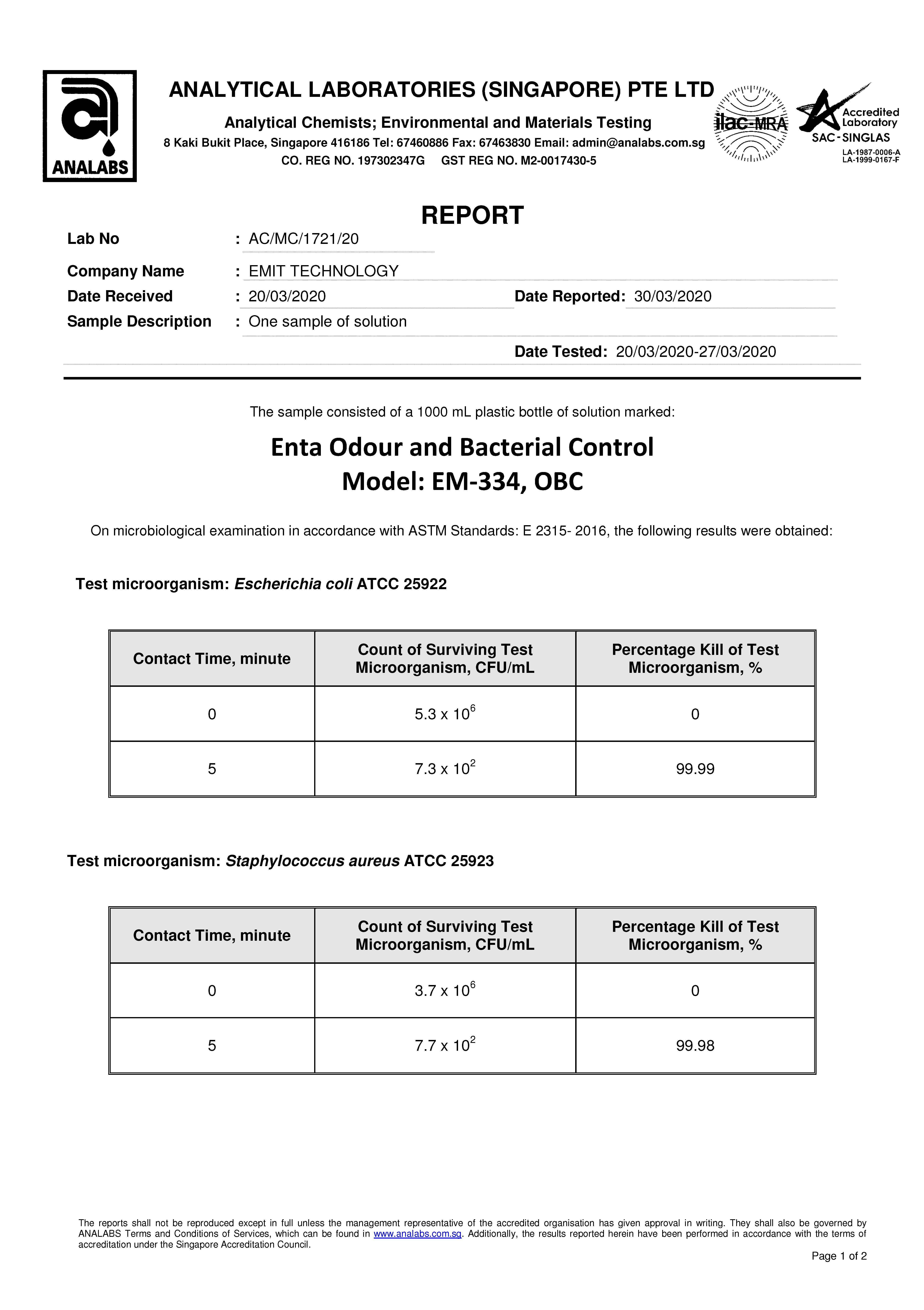 OBC test report
